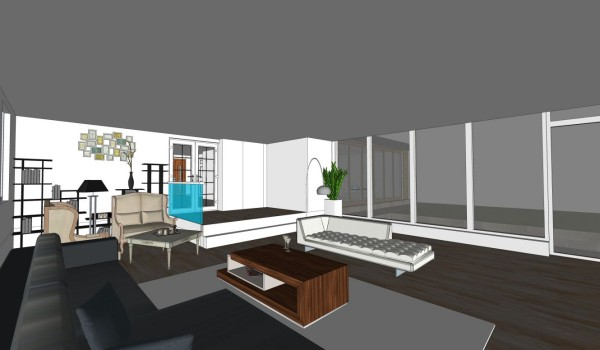 3d architectural interior view 3